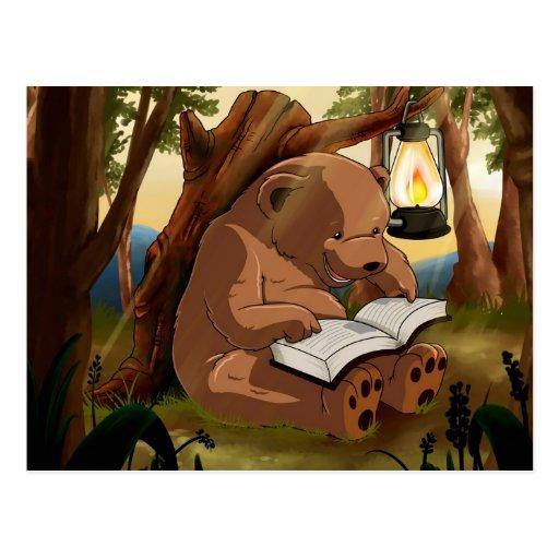 Cute Reading Bear Postcards
