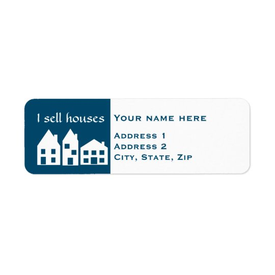 Cute real estate return address label