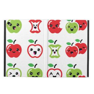 Cute red and green kawaii apple phone case iPad air cover