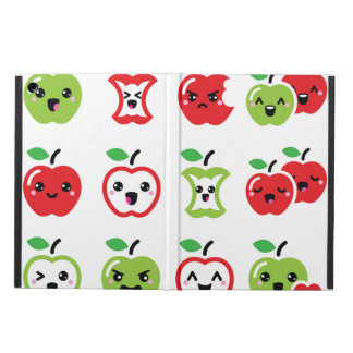 Cute red and green kawaii apple phone case cover for iPad air