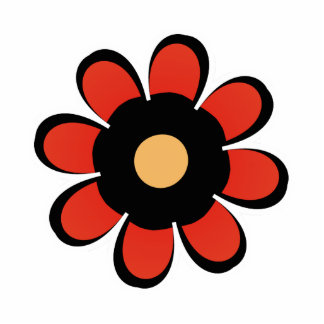 Cute red and Yellow Flower Magnet Cut Outs