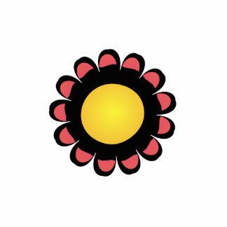 Cute red and Yellow Flower Magnet Photo Cut Out