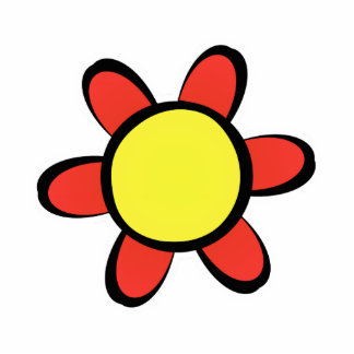 Cute red and Yellow Flower Magnet Cut Out