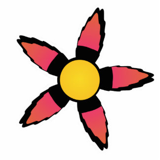 Cute red and Yellow Flower Magnet Acrylic Cut Out