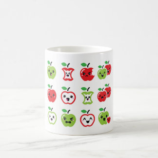 Cute red apple and green apple kawaii cup