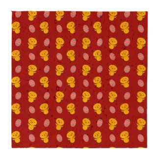 Cute red baby chick easter pattern drink coasters