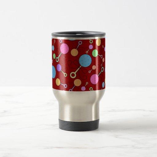 Cute red baby rattle pattern mug