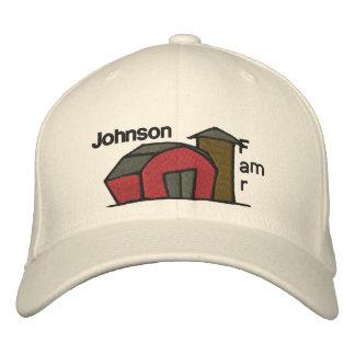 Cute Red Barn & Farm Yard Design Embroidered Hat