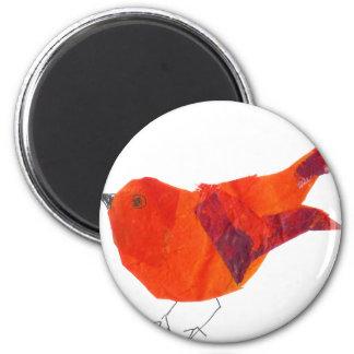Cute Red Bird 6 Cm Round Magnet