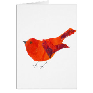 Cute Red Bird Card