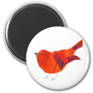 Cute Red Bird Magnet