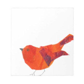 Cute Red Bird Notepad