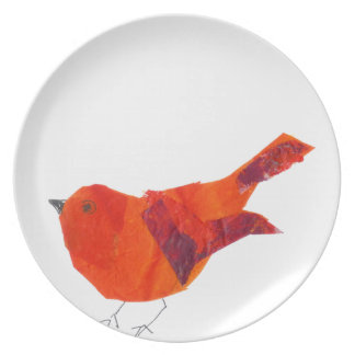 Cute Red Bird Plate