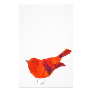 Cute Red Bird Stationery