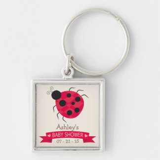 Cute Red & Black Ladybug Baby Shower Key Chain
