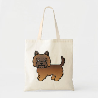 Cute Red Brindle Cairn Terrier Cartoon Dog