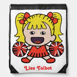Cute Red Cheerleader Backpack