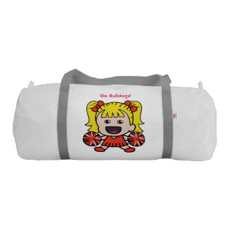 Cute Red Cheerleader Duffel Bag Gym Duffel Bag