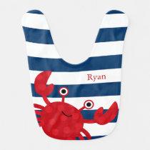 Cute Red Crab Bibs