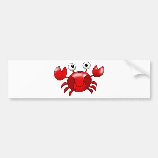 Cute red crab bumper sticker