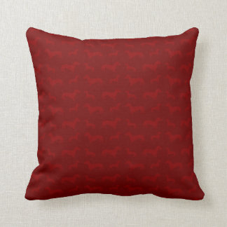 Cute red dachshund pattern pillow