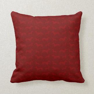 Cute red dachshund pattern cushion