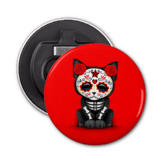 Cute Red Day of the Dead Kitten Cat