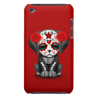 Cute Red Day of the Dead Puppy Dog Barely There iPod Cases