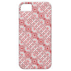 Cute red decorative ukrainian patterns design iPhone 5 case