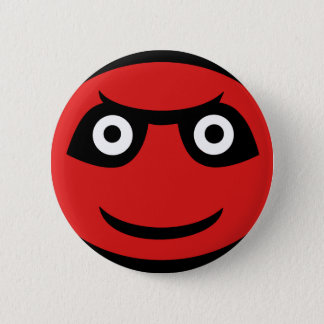 Cute Red Demon Emoji 6 Cm Round Badge