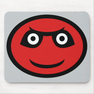 Cute Red Demon Emoji Mouse Pad