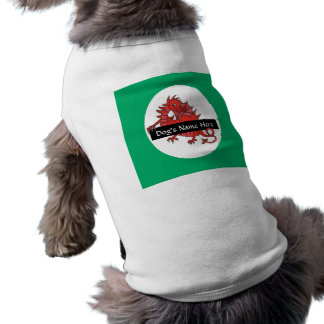 Cute Red Dragon Dog's Tanktop to Personalize Shirt