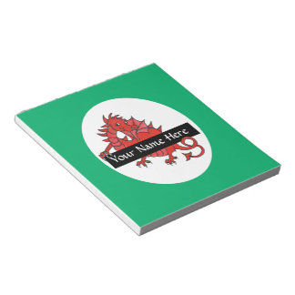 Cute Red Dragon Notepad or Jotter to Personalize