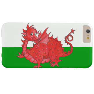 Cute Red Dragon on Green, White iPhone 6 Plus Case