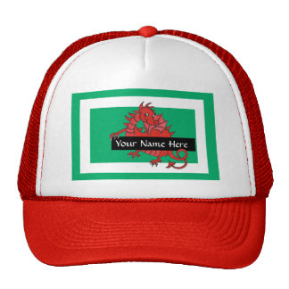 Cute Red Dragon Trucker Hat to Personalize