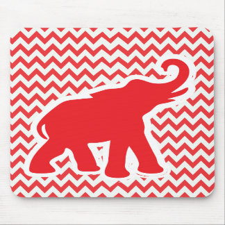 Cute red elephant mousepad