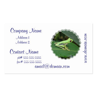 Cute Red Eyed Tree Frog Business Cards