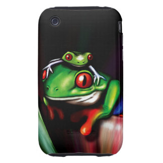 Cute Red Eyed Tree Frogs Tough iPhone 3 Cover