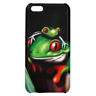 Cute Red Eyed Tree Frogs iPhone 5C Cases