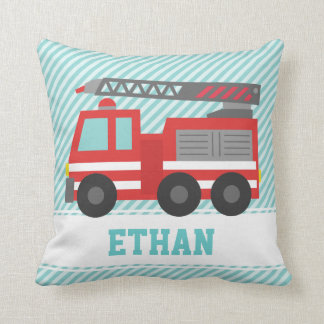 Cute Red Fire Truck for Boys Bedroom Cushion