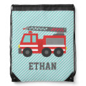 Cute Red Fire Truck for Boys, Name