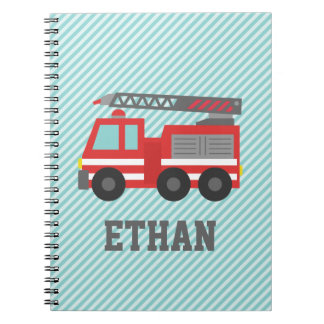 Cute Red Fire Truck for Little Fire fighters Notebooks