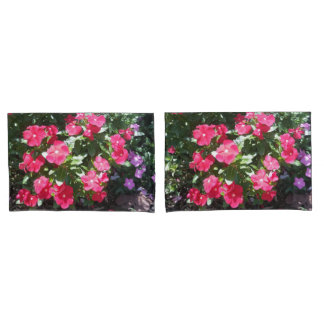 Cute Red Flowers Print Pillow Cases