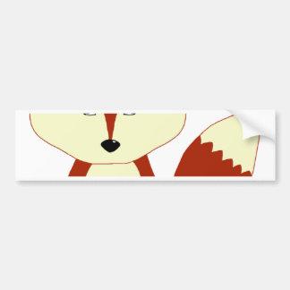 Cute Red Fox Bumper Sticker