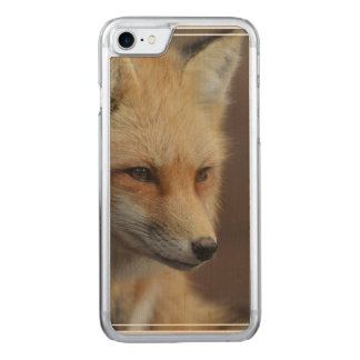 Cute Red Fox Carved iPhone 7 Case