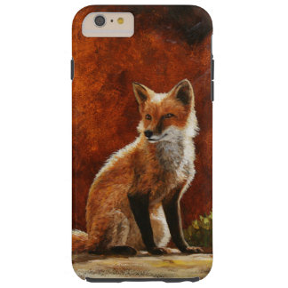 Cute Red Fox Sitting In The Sun Tough iPhone 6 Plus Case