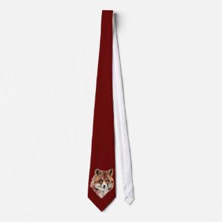 Cute Red Fox, Watercolor Nature, Wildlife Tie