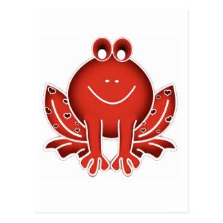 cute red frog postcards