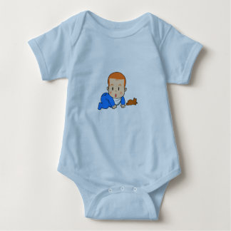 Cute red-haired baby baby bodysuit