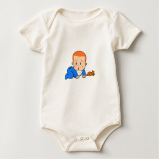 Cute red-haired baby bodysuits